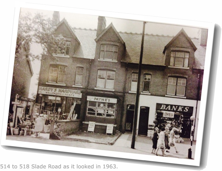 1963 pic of Slade Road Shop