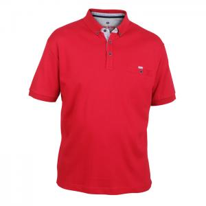 d8812fc3f811aa A9759 Peter Gribby Plain Polo Shirt (Red)