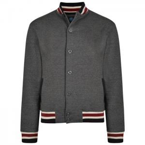 102544ad3e99ae D6074 Casual College Style Jacket (Charcoal)